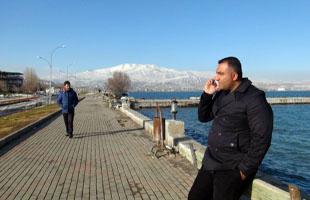 Tatvan'daki vatandaşlar yaz ve kışı aynı anda yaşadılar