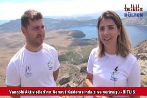 Nemrut Dağı'nda zirve yürüyüşü düzenlendi - Bitlis Bülten